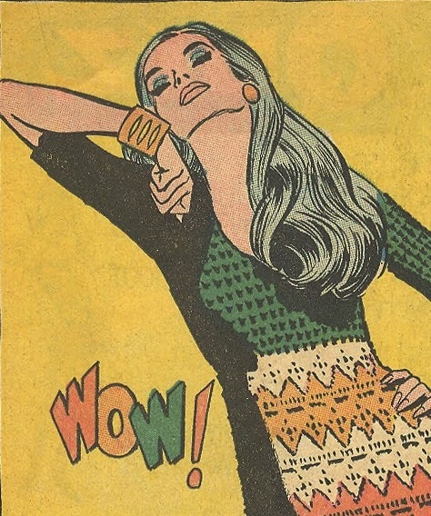 """From """"Mad, Mad Modes for Moderns,"""" a series of fashion ads ran in romance comics."""