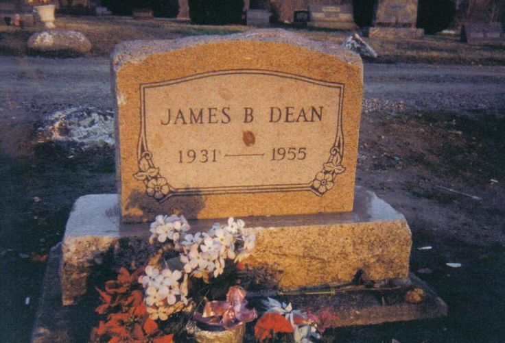 James Dean Grave Born:  Feb. 8, 1931 Died:  Sept. 30, 1959  Age 24 in car accident near 46-41 Highway Junction at Cholame, CA