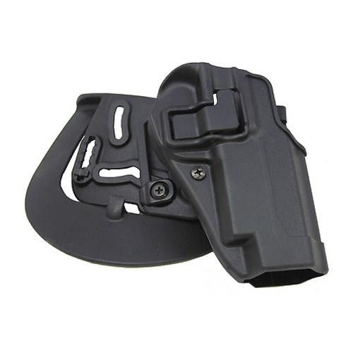 Serpa CQC, Belt & Paddle Holster, Plain Matte Black Finish - S&W 5900-4000, Right Hand