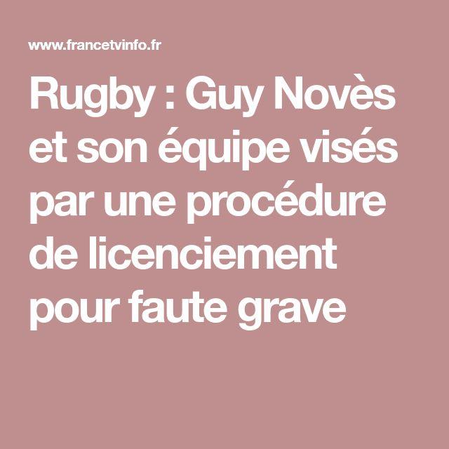 Rugby : Guy Novès et son équipe visés par une procédure de licenciement pour faute grave