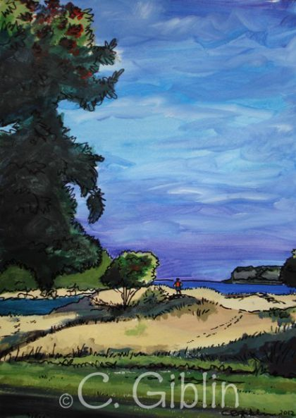 Whangamata Dunes Art Print - The Little Gallery