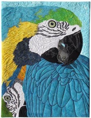 Blue Moon River art quilting studio: Studios Amazing, Birds Quilts Art, Amazing Art, Amazing Quilts, Quilts Studios, Blue Moon, Art Quilts, Moon Rivers, Rivers Art