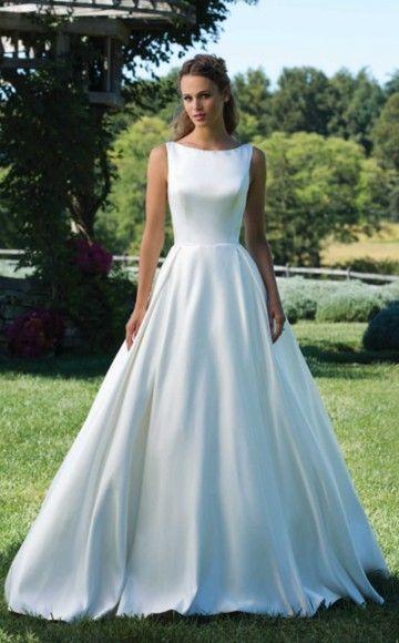 708 best Satin Wedding Dresses images on Pinterest | Short wedding ...