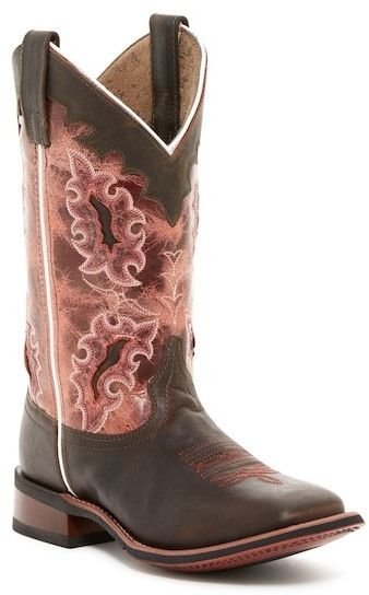 Dan Post Boot Company Lad 11 Embroidered Leather Cowboy Boot