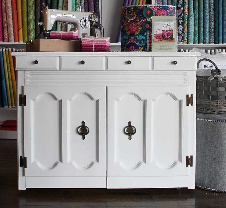 Sewing Cabinet Makeover: How To Get A Smooth White Finish With Annie Sloan  Chalk Paint