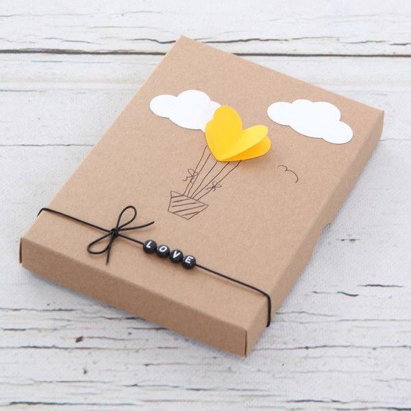 """Geschenkkartons – Geschenkbox """"Herzballon"""" – ein D…"""