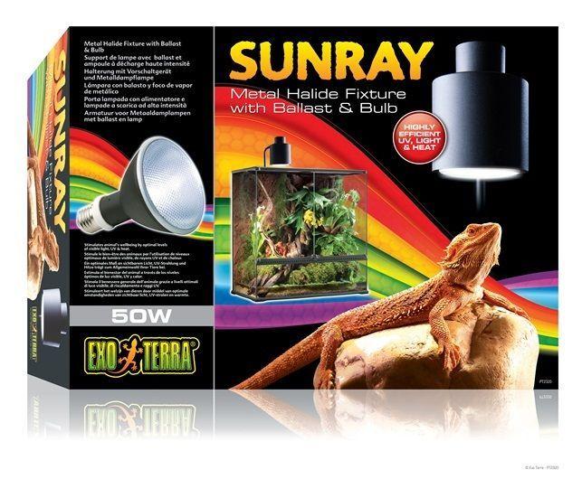 Sunray Metal Halide Reptile Terrarium Light Fixture W Ballast Bulb 50w 50 W Light Fixtures Bulb Discount Pet Supplies