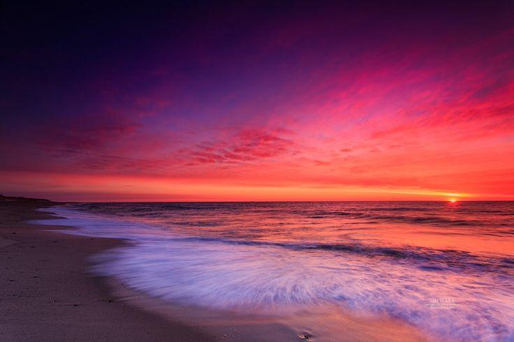 Cape Cod Sunrises - Eye-opening Ocean sunrise Today from Nauset beach. Cape Cod images by Cape photographer Dapixara https://dapixara.com