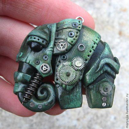 Кулоны, подвески ручной работы. Ярмарка Мастеров - ручная работа Слон Бионический. Handmade.