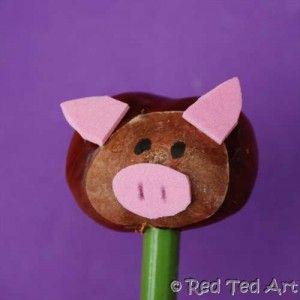 Pig a la chestnut. #crafts #popular #diy