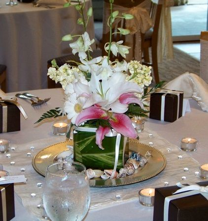 17 best images about xv sweet 16 centerpiece on pinterest for Flower arrangements for sweet 16