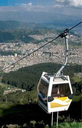 Quito, Ecuador. Teleferico. Taking you up 4050 meters of altitude with an amazing bird's eye view of Quito