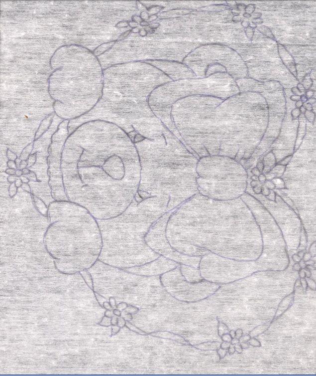 Pintura em fralda Ursinho feita por Filó Frigo  Lista de material 1 fralda de boa qualidade, Tabua com cola permanente e tecido em cima d...