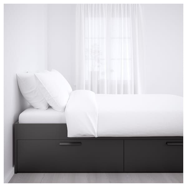 Hudson Washed Black Headboard Black Headboard Bed Frame With