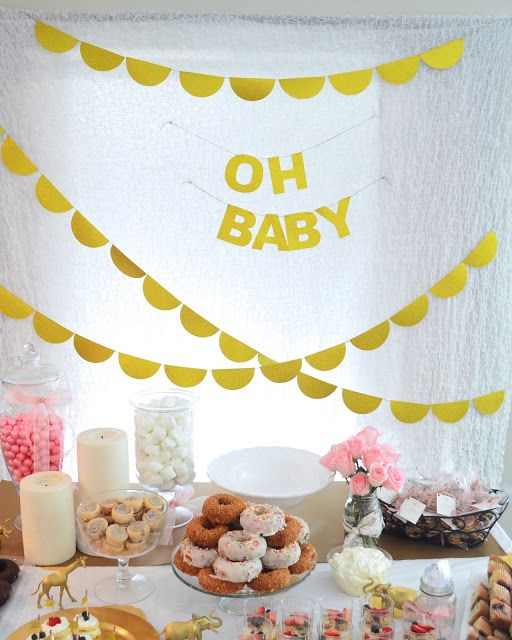 My Best Friend's Blog: All That Glitters is Gold Baby Shower Breakfast
