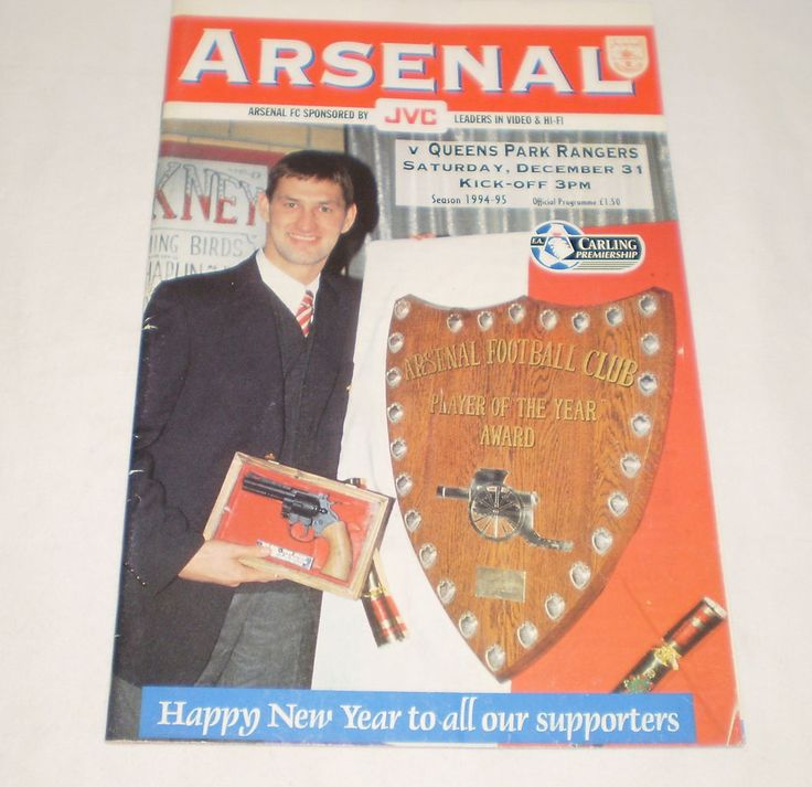 Arsenal V Queens Park Rangers FA Carling Premiership 1994/95 Football Programme