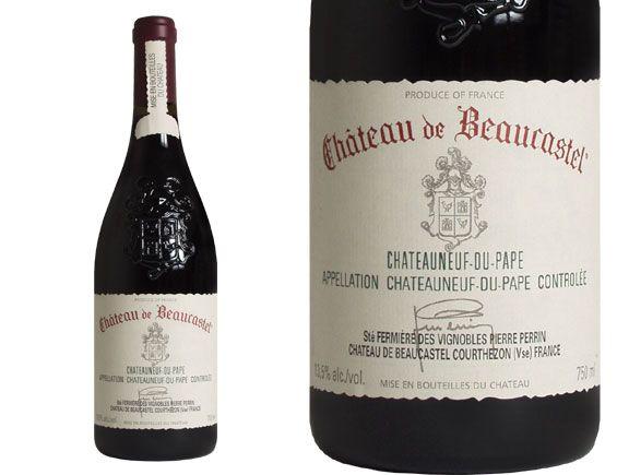 CHÂTEAU DE BEAUCASTEL CHÂTEAUNEUF DU PAPE red 2007, Châteauneuf du Pape, wine of Rhône Valley.