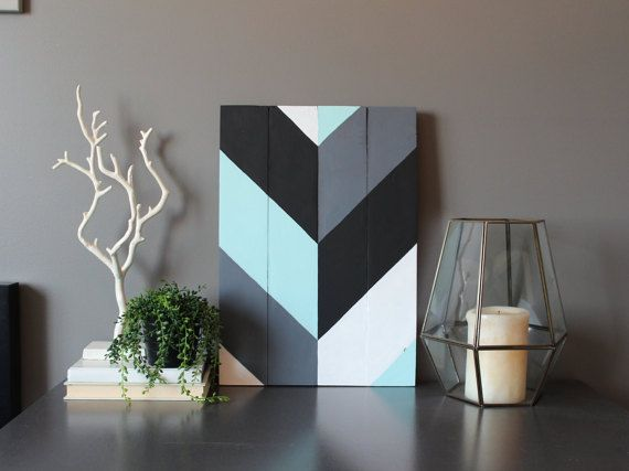 Hey, I found this really awesome Etsy listing at https://www.etsy.com/listing/220974935/modern-chevron-reclaimed-wood-wall-art