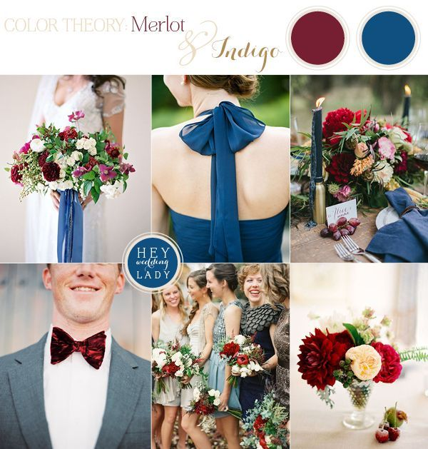 The Hottest Color for Fall 2014 - Merlot and Indigo Autumn Wedding Inspiration | See More! http://heyweddinglady.com/fall-2014s-hot-color-me...: