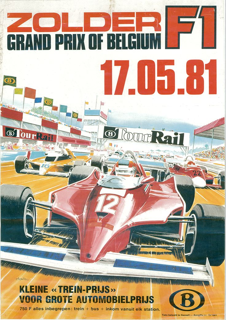 GP F1 1981 B Tour Rail ZOLDER
