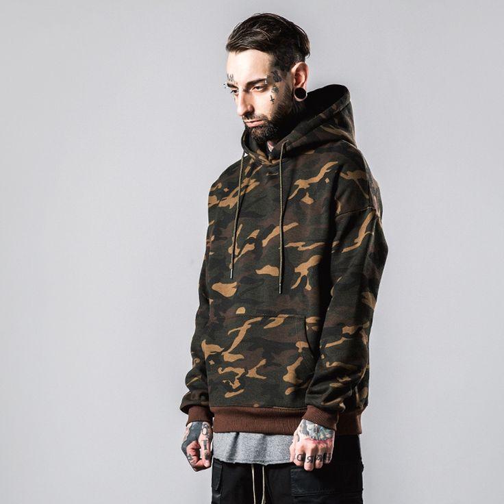 39.99$  Buy here - https://alitems.com/g/1e8d114494b01f4c715516525dc3e8/?i=5&ulp=https%3A%2F%2Fwww.aliexpress.com%2Fitem%2FAutumn-Winter-New-Camouflage-Hoodies-Men-Army-Green-Hoody-Kanye-West-Oversize-Hooded-Sweatshirts-Hiphop-Rap%2F32737927496.html - Outdoor Autumn Winter Camouflage Streetswear Mens sport long sleeve Hooded Hiphop Rap Sweatshirts pullover Skateboarding Hoodies 39.99$