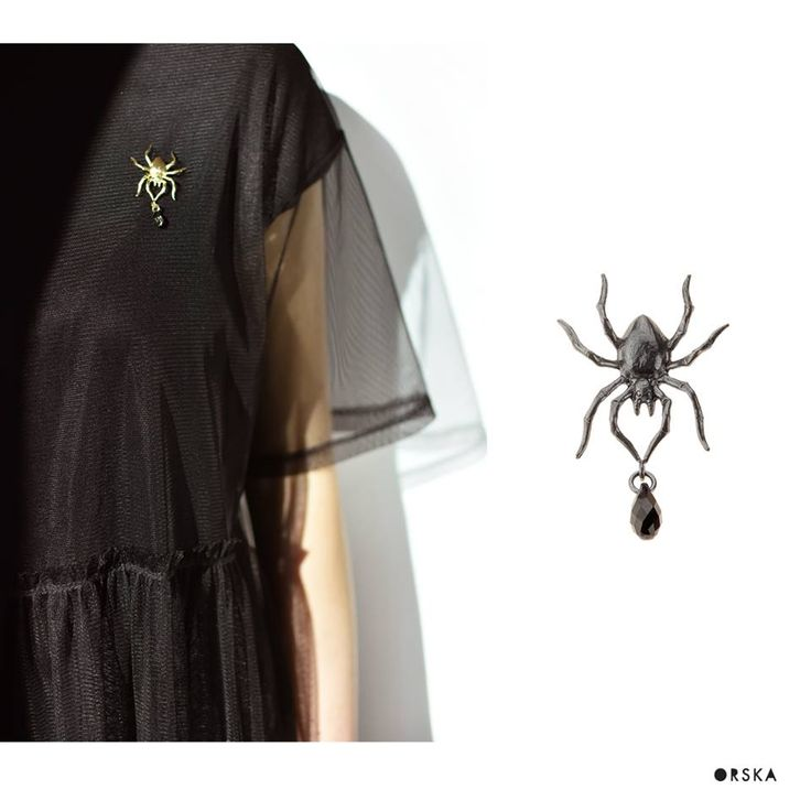 Spiders dont have to be scary at all ! :) Little brooch from BERY collection by Anna Orska. #orska #annaorska #pin #jewellery #inspiration #spider