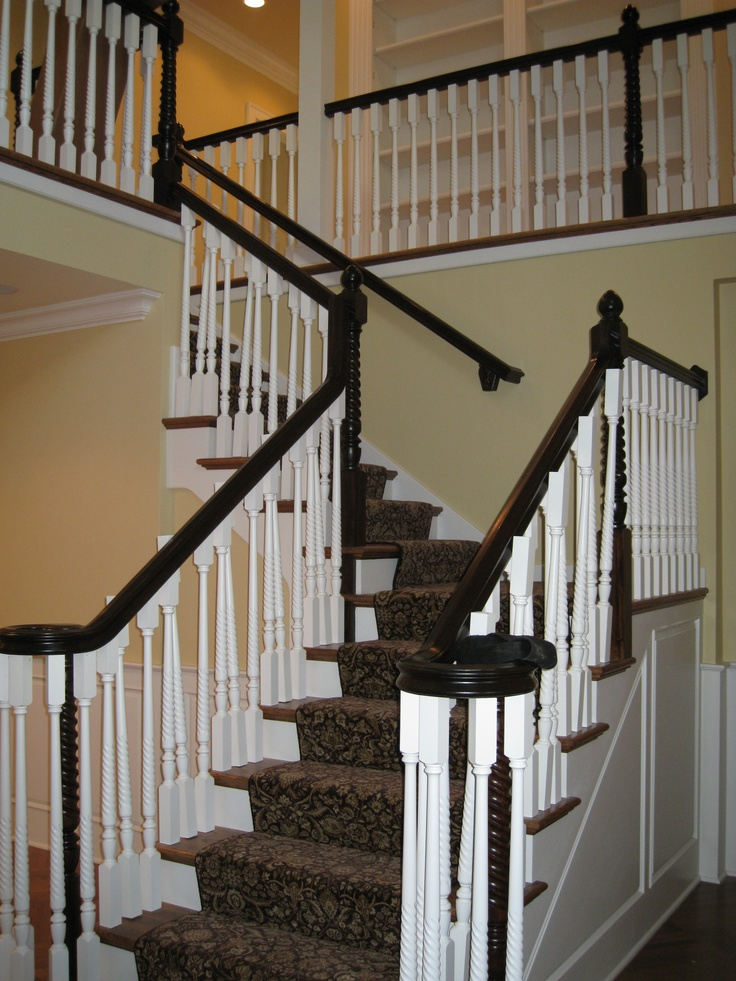 New 2 story foyer staircase in 100 year old home newly for House plans with stairs in foyer