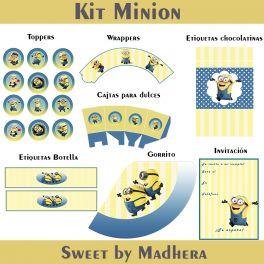 Kit imprimible Minion