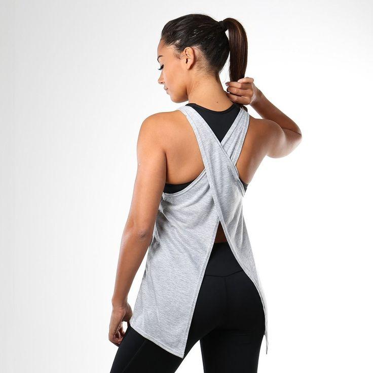Gymshark Switch Back Gym Vest - Grey at Gymshark UK | Be a visionary.