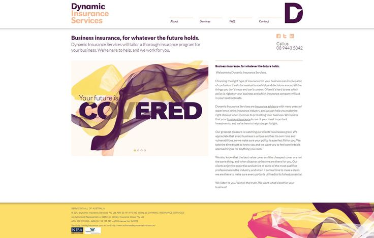 Dynamic Insurance Services Website Design by Star 3 Media