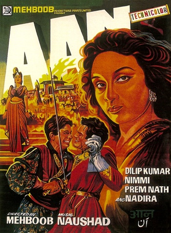 Aan (1952), Dilip Kumar, Classic, Indian, Bollywood, Hindi, Movies, Posters, Hand Painted