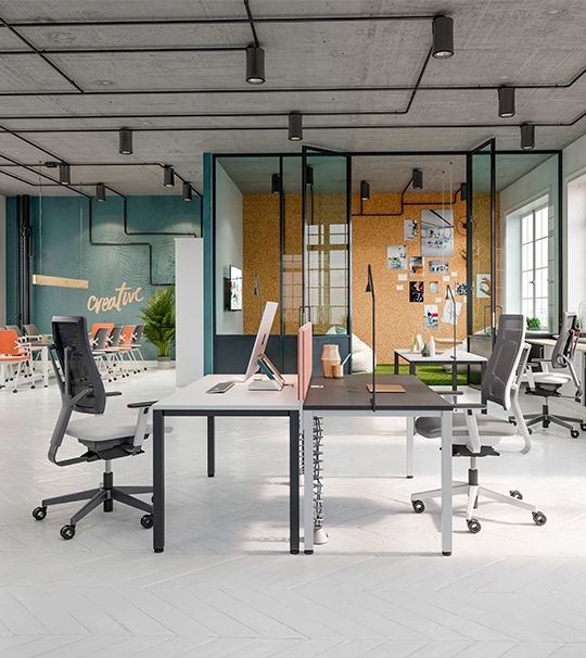 Easy Space is an integrated office furniture system which is based on easy solutions thanks to which we can form various work place combinations. This system enables to form individual, double or group work places, open spaces, receptions or conference rooms. #EasySpace #MakeYourSpace #CDW2017