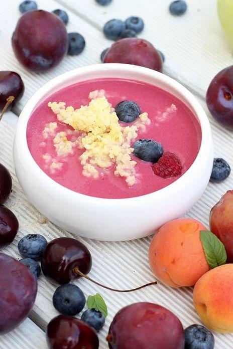 Zupa owocowa z kaszą jaglaną