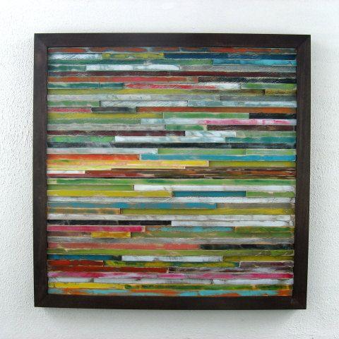 Reciclado madera arte escultura de la pared por ModernRusticArt