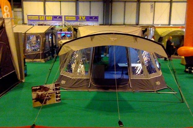 The brand new attar from Vango! Spacious inside, warm welcoming colours and space for two inner tents! Designed for motorhome awnings !