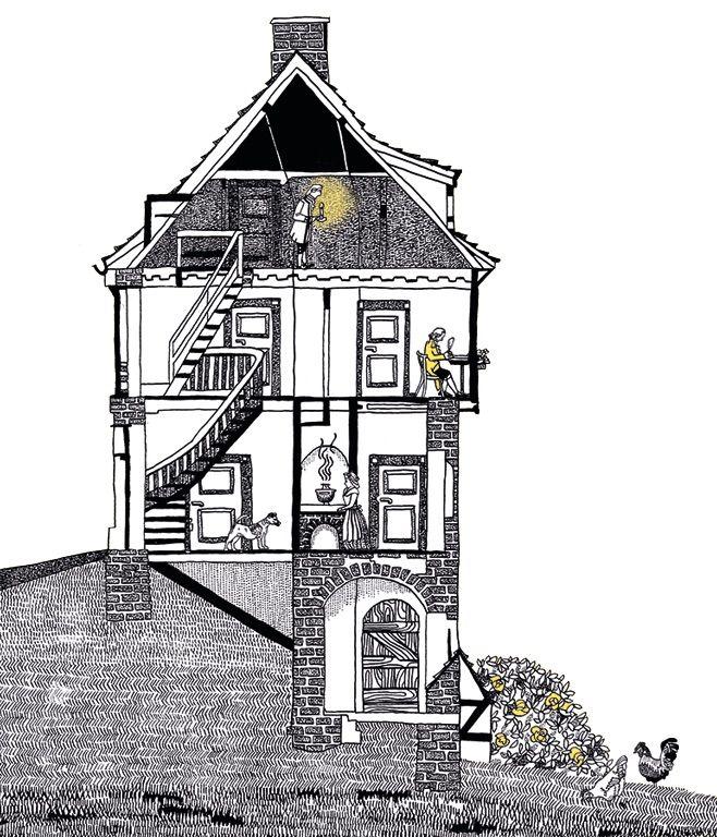 Graphic Novel »Lampe und sein Meister Immanuel Kant« © Antje Herzog   Die Illustratorin im Interview: http://page-online.de/bild/beruehmter-philosoph-als-graphic-novel-held/