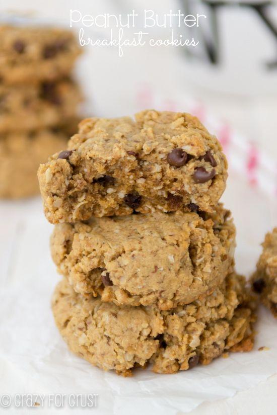 Peanut Butter Breakfast Cookies | crazyforcrust.com