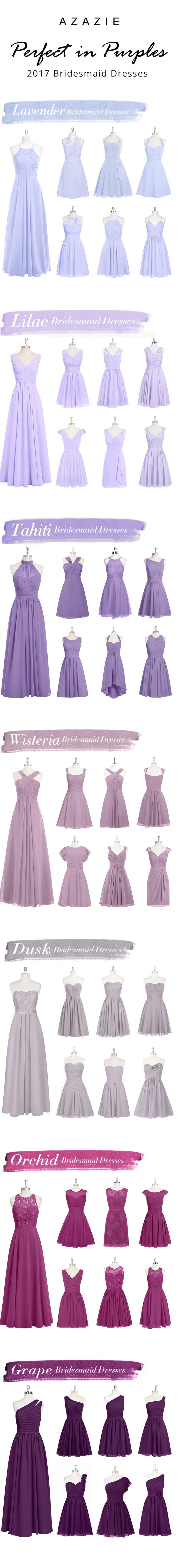 Mixing-and-matching your bridesmaids is easy! Azazie offers 50+ colors to choose from. We offer color swatches to make mixing & matching easier. Wedding tip: Try out our sample program before you purchase to make sure you are completely in love with a dress! Azazie has over 100 styles from delicate lace to bold satins. Shop our affordable bridesmaid dresses today!
