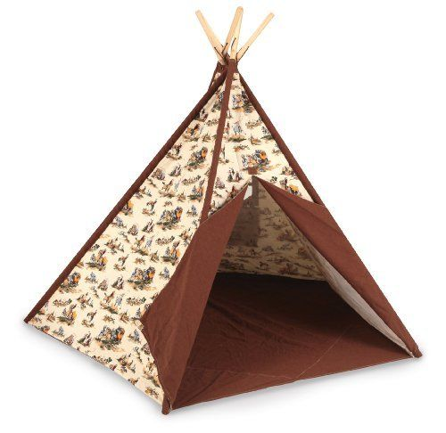 Pacific Play Tents Cowboy Tee Pee by Pacific Play Tents. Save 4 Off!. $189.99. Amazon.com                Give your favorite buckaroo a taste of the Wild West with the Pacific Play Tents Cowboy Tee Pee. This imaginative hideout includes a canvas tee pee, 10 wooden poles, five connecting tubes, and a cotton string for fastening the poles together. Made of durable cotton canvas and nylon and measuring a generous 45 by 45 by 56 inches (L x W x H), the tee pee sets up easily for indo...