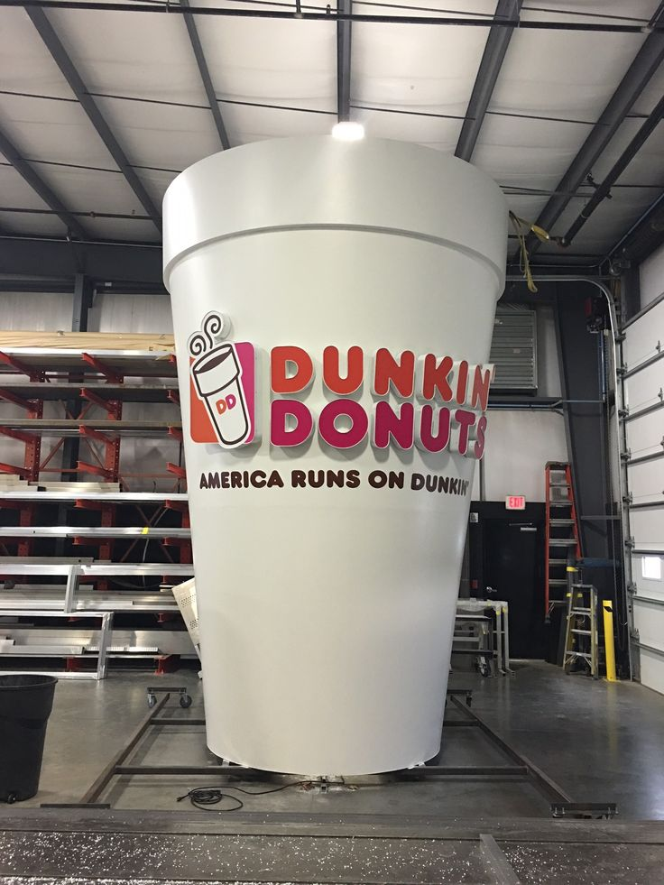Dunkin Donuts Monumental Sign Done By Sign Pro Inc