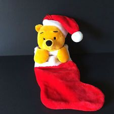 Christmas Stocking Disney Parks Winnie the Pooh Plush Toy 20 inches NWOT