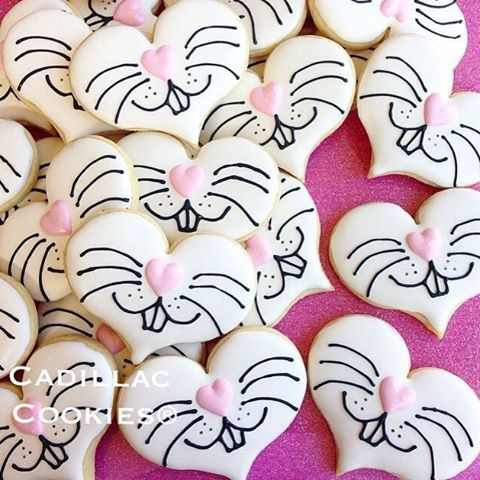 "93 Likes, 2 Comments - Cadillac Cookies®, LLC (@cadillaccookie) on Instagram: ""Some bunny loves you! Class treats for a February birthday girl who loves…"""