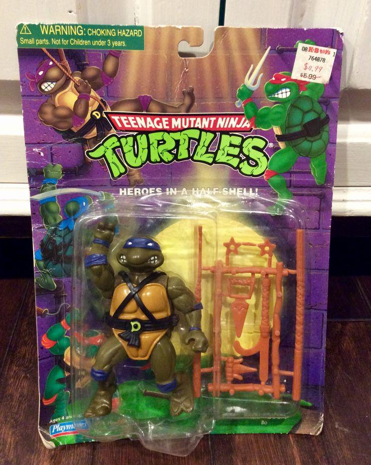 Vintage TMNT Donatello Action Figure NIP, Teenage Mutant Ninja Turtles Action Figures, Vintage Ninja Turtle Figure, Donatello TMNT, Turtles by Lalecreations on Etsy