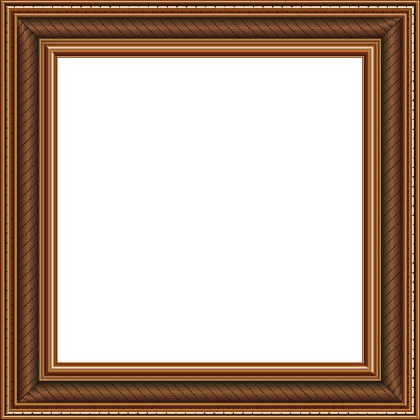 Transparent Brown PNG Photo Frame