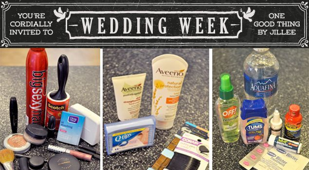 48 Items To Have In Your Wedding Day Survival Kit + A Printable Check List