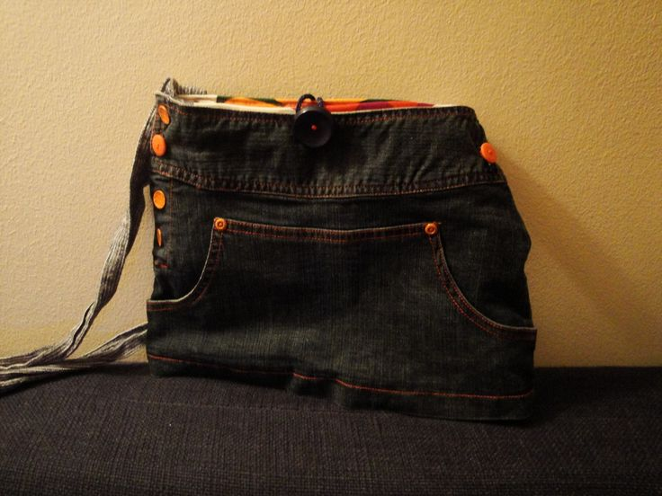 Bag made by PouPée-Pe: using upcycled girl's skirt by