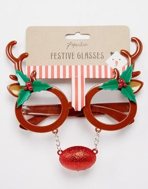 asos Paperchase Christmas Reindeer Glasses