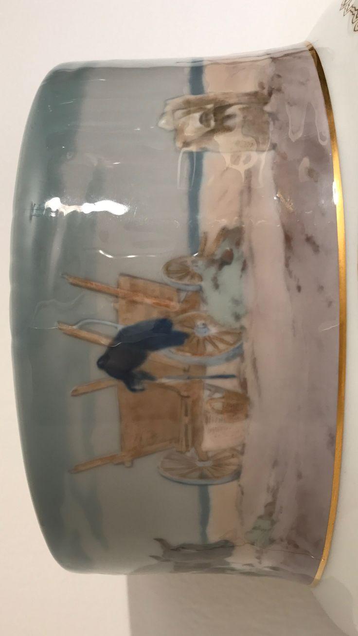 Meißen , Vase , Detail . ( Siehe Anmerkungen bei der Totalansicht ).
