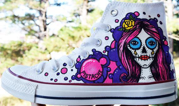 175ec19f670ab1 Items similar to CUSTOM PAINTED SHOES art kicks sneakers graffiti hand vans  converse all stars nike bling white mens womens kids trainers adidas  customised ...