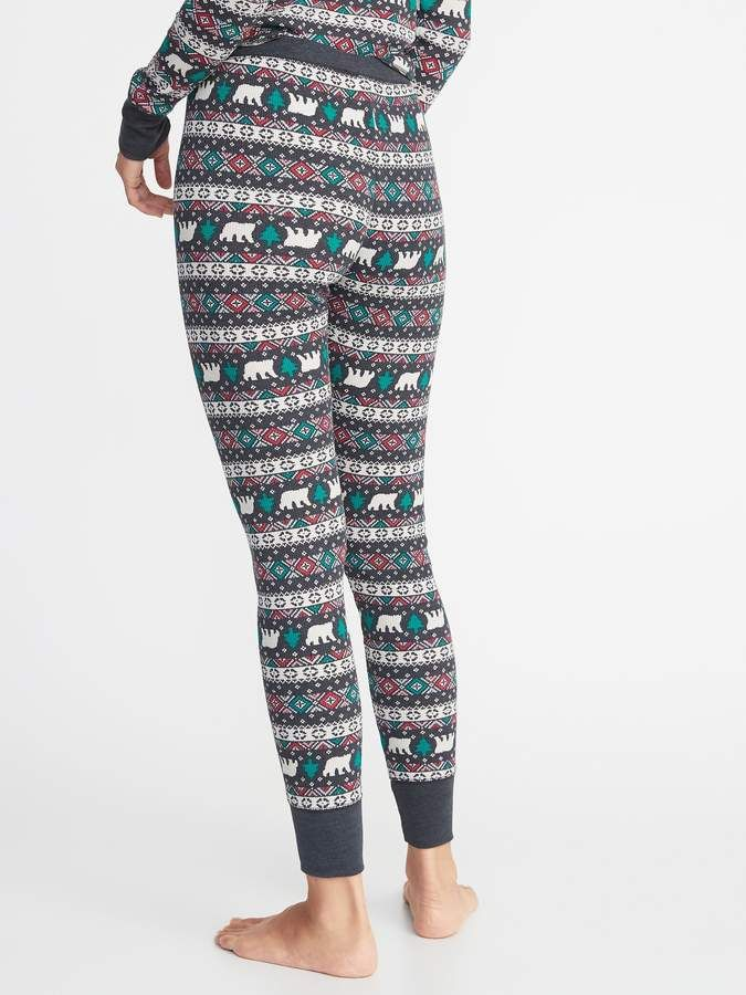 e5e2e5fc2 Old Navy Patterned Thermal-Knit Sleep Leggings for Women  #Thermal#Patterned#Navy